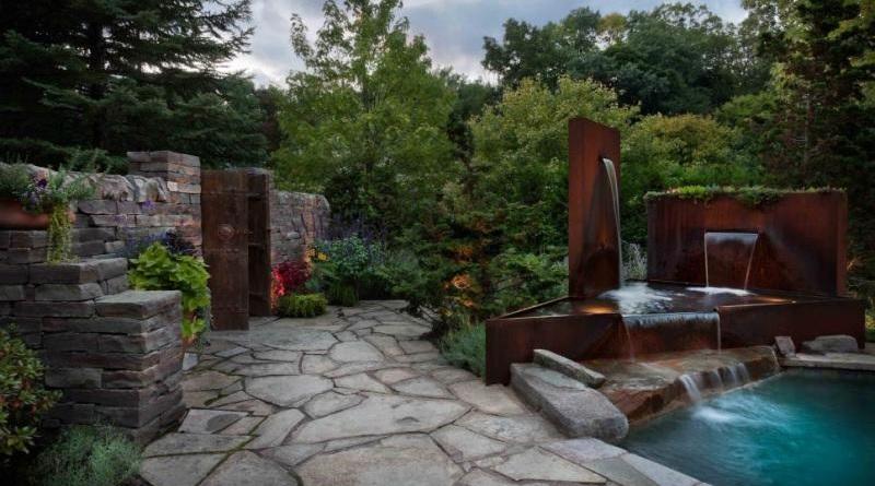6 idee per il giardino con l 39 acciaio corten info acciaio - Idee per il giardino ...